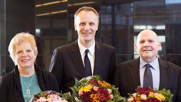 2013 honorary doctorates at the Sahlgrenska Academy: Ann-Sofie Sandberg, Richard Horton and Samuel I. Stupp.
