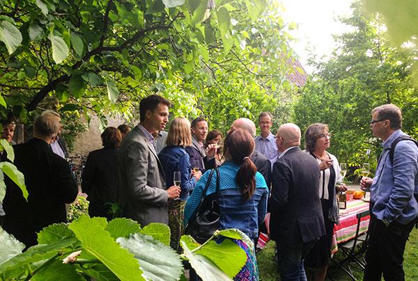 Under Almedalsveckan bjöd Sahlgrenska akademin in till flera välbesökta seminarier, och anordnade även sociala tillställningar i Visby. Foto: Anna Sonberger, eventkoordinator Sahlgrenska akademin.