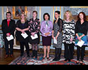 Queen Silvia awards scholarships to two Sahlgrenska Academy doctoral students