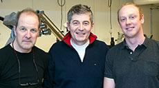 Kursledare vid detta tillfälle var (från vänster) Michael Axelsson, Mihai Oltean och Mats Hellström.