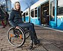 Studenter i rullstol gav kollektivtrafiken en knuff