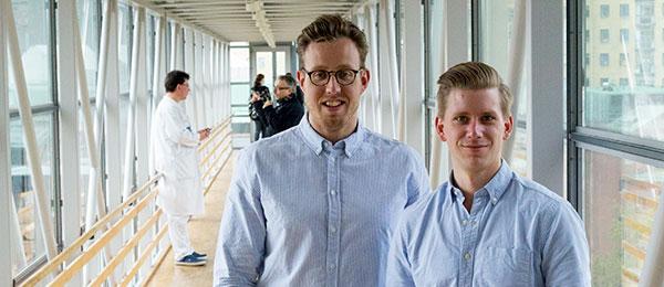 Nils och Emil Schüler. Foto:  Elin Lindström Claessen/GU