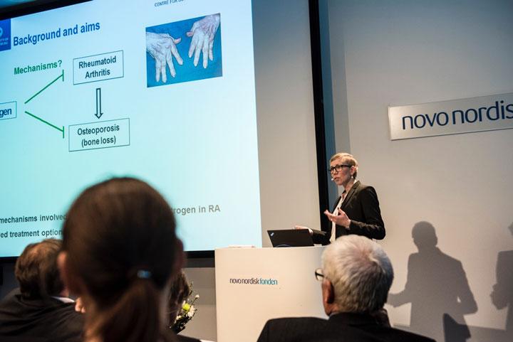 Bilden togs av fotograf Jesper Ludvigsen vid Novo Nordisk award celebration.