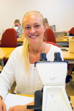 Alice Lidemar, läkarstudent inne på sin andra termin.