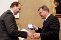 Marcus Lindh tog emot Jubileumspris i Stockholm