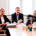 Givande möte när Utbildningsdepartementet besökte Sahlgrenska akademin