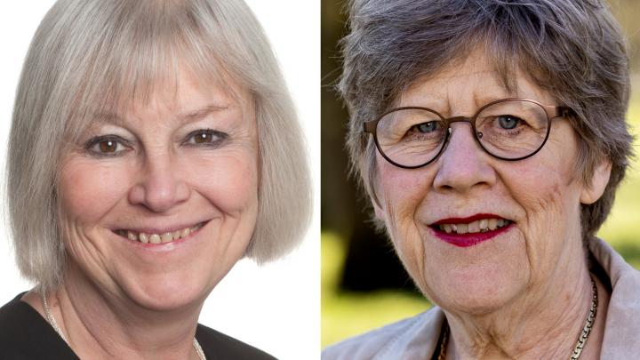 Porträttbild på Annika Rosengren (foto: Cecilia Hedström) och på Agnes Wold (foto: Johan Wingborg)